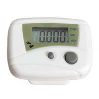 Wholesale waterproof lcd counter online - Waterproof Digital LCD Run Step Pedometer Walking Distance Calorie Counter Passometer White Black High Quality