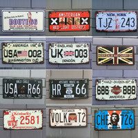 Wholesale pictures metal homes - Different themes Retro Metal Signs Tin Painting Home Decor Posters Crafts Supplies Wall Art Pictures Wall Décor 45 styles