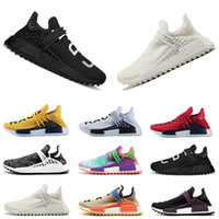 ee6e959ba95fad 2018 cheap Human Race trail Running Shoes Mens Women Pharrell Williams Holi  Blank Canvas pale nude trainers sports sneakers size 36-45