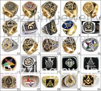 ingrosso anelli del cavaliere-2017 I più recenti 23 disegni anelli massonici freemaoson anello maestro passato Demolay e cavalieri di gioielli colombus anello orientale stella uomini donne