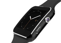 мобильный телефон с сенсорным экраном оптовых-X6 Smartwatch Изогнутый экран Bluetooth Smart Watch Браслет с SIM-картой Слот для камеры FM Поддержка Whatsapp для сотового телефона IOS Andriod