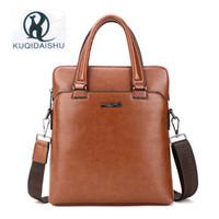 KUQIDAISHU Brand 2017 New Men s Business Bag PU Leather Male Fashion Shoulder  Bags Luxury Designer Handbag Men Crossbody Bag c42e1156976d5