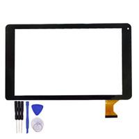 reparación de la pantalla de la tableta pulgadas al por mayor-10.1 pulgadas de pantalla táctil MJK-0710-FPC Tablet PC Panel de vidrio digitalizador Sensor de reemplazo blanco negro herramientas de reparación gratuitas