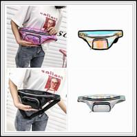 Wholesale art sparkle - 4 Colors Fashion Sparkle Holographic Fanny Pack Laser PU Hip Waist Pack Belt Pouch Unisex Hologram Chest Bag Waistpacks CCA9865 60pcs