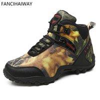 обувь для камуфляжа оптовых-FANCIHAWAY HighTop Hiking Shoes Мужчины держат теплую обувь для спортивной обуви Ultra Boost Камуфляжная корзина Homme Climbing Sneakers