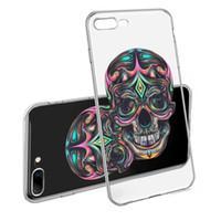crâne iphone achat en gros de-Pour iphone X XS MAX XR Etui Samsung Etui souple Etui TPU Skull Pattern Etui téléphone mode pour jeunes