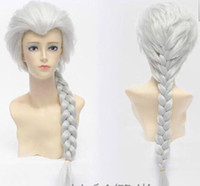 Wholesale braids wig queen resale online - Queen Aisha Silver Braided Ponytail Cosplay Wig