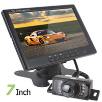 Wholesale Car Video Camera Parking System - 7 Inch Color TFT LCD 2 Channels Video Input Car Rear View Monitor + 7 IR Lights Car Rear View Camera Parking System CMO_328