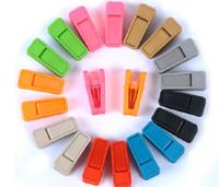 plastik çamaşırlar toptan satış-Ağır Giysiler Kazıklar Plastik Askılar Raflar Clothespins Çamaşır Giyim Pimleri Asılı Kazıklar Klipler ABS Resuable SN2167