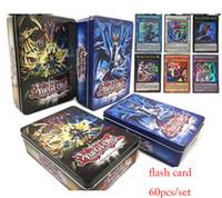 Wholesale yu gi oh toys - 60 Stks set Yugioh (Rare Flash Kaarten) Box Yu Gi Oh Game Papier Kaarten Kinderen Speelgoed Meisje Jongen Collectie Kaarten Kerstcadeau