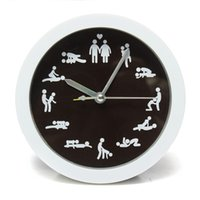Wholesale Sex Tables - Wholesale-New Arrivals 12 Position Patterns Funny Circular Table Clocks Cultural Arts Sex Clock Novelty Sexy Classic For Living Room