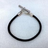 personalisierte sport armbänder großhandel-Sport und Freizeit Lederarmband, handgefertigte Naturleder, pure Silberlegierung personalisierte Schnalle Armband