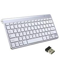 клавиатура новая оптовых-New Designed 2.4G Wireless Keyboard MINI Waterproof Ultra-Thin Mute Keyboard Structure Compact For Computer TV Box .etc