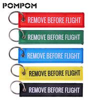 quitar etiquetas al por mayor-Quite antes del vuelo Jacqurad llavero de cadena tejida para regalos de aviación Etiquetas de equipaje especial Etiqueta dominante OEM Llavero Joyería de moda