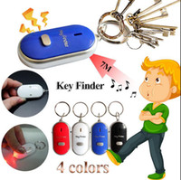 Wholesale whistle lost keys for sale - Group buy LED Anti Lost Keys Finder Keys Chain Whistle Locator Find Alarm Tracker Flashing Beeping Remote Keyring OOA4790