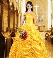 vestidos victorianos amarillos al por mayor-Steampunk vestido amarillo vestidos victorianos princesa fiesta Cosplay vestido