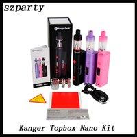 kbox kit оптовых-Kanger Topbox Nano 60w TC Kit Контроль температуры Starter Kit с Top ДОЛИВКА Totank Nano подходят KBOX Nano ssocc катушки DHL 0266050 -1