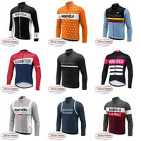 Wholesale yellow thermal shirt - Morvelo team Cycling Winter Thermal Fleece jersey New Bicycle Long Sleeves Mountaion MTB cycling Jersey Clothing Shirts D816
