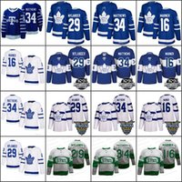 Wholesale Hockey Jersey Toronto - Men's Toronto Maple Leafs Stadium Series 34 Auston Matthews 16 Mitch Marner 29 Nylander 100th Centennial Classic St Pats Jersey