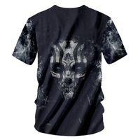 Wholesale plus size clothing skulls online - CJLM T Shirt Men Brand Clothes Summer Tops Skull d Print T shirt Male Casual Short Sleeve Tshirt Fashion Mens Tee Plus Size XL
