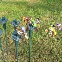 ingrosso giardino della farfalla-Nuovi colibrì solari, farfalle giocattoli da giardino, giocattoli educativi illuminanti per studenti solari e batteria combo.GIFT
