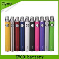 evod mini protank atomizador al por mayor-EVOD Batería 650mAh 900mAh 1100mAh Baterías Ego E Cigarettes Para MT3 CE4 Mini Protank Atomizer Vs Smart Law batería