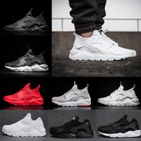 Wholesale Cheap Light Blue - Cheap Air Huarache 1 IV 4 Ultra Classical all White Black red grey Huaraches Shoes Men Women Running Shoes sport Sneakers us5.5-11