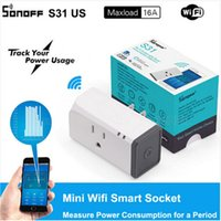Wholesale energy monitoring - SONOFF S31 US Plug 16A Wifi Mini Smart Remote Control Socket Timing Function Power Energy Usage Monitor Socket Works with Alexa