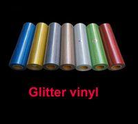 Wholesale heat glitter vinyl online - 1 sheet cmx100cm quot x40 quot Glitter vinyl for heat transfer heat press cutting plotter Made in South Korea