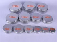 контейнеры для бальзама для губ оптовых-Пустые алюминиевые косметические контейнеры горшок бальзам для губ банку олова для мази крем для рук упаковка крем коробка X076