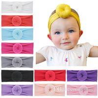 Wholesale infant baby girl accessories online - Baby headbands doughnut knot bands india Donut headband infant kids Girls hairbands Children Hair Accessories Kids Hair Band KHA396