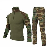Wholesale woodland uniform for sale - Army Clothing Tactical military uniform Airsoftsport Frog Camouflage Suit US Army Multicam Woodland BDU Clothing Set