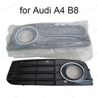 Wholesale 8K0807681A C K0807682A C One Pair Black Right Left Fog Light Lamp Grille Auto Grills For Audi A4 B8