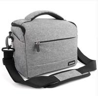 ingrosso fotografia a borsa a tracolla-DSLR Camera Bag Moda poliestere Shoulder Bag cassa della macchina fotografica per Canon Nikon Sony Lens Pouch Bag impermeabile Foto Fotografia