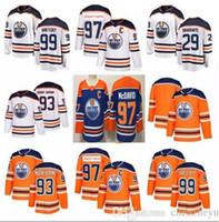 4d7fe4b01 2018 Edmonton Oilers 97 Jersey 99 Wayne Gretzky 29 Leon Draisaitl 27 Milan  Lucic 93 Ryan Nugent-Hopkins Hockey Jerseys