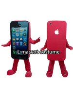 trajes de telefone venda por atacado-Nova chegada! Telefone celular Apple iPhone 5C traje da mascote personalizado kits de anime mascote tema fancy dress traje do carnaval