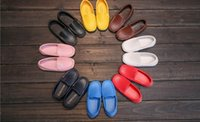 Wholesale candies girls shoes - Children's shoes spring and autumn new boys and girls bean shoes children's children candy color beef bottom foot