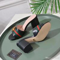 sandalias tacones gruesos al por mayor-Las mujeres de color rosa elegante sexy correas del tobillo altos zapatos de tacón cuadrado primavera verano damas nupcial ante cabeza redonda sandalias de tacón grueso
