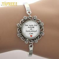 bracelets d'autisme achat en gros de-TAFREE Le remède contre l'autisme est inconditionnel comme le bracelet avec breloque en verre et dentelle, note de remarque, le bracelet en photo de haute qualité NS190