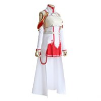 Wholesale latest women costume for sale - High quality dress Latest cartoon cartoon Sword Art Online Asuna Cosplay Costume