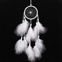 dreamcatcher indisch großhandel-Wind Chimes handgemachte Traumfänger Net mit Federn 55 cm Wandbehang Traumfänger-Fertigkeit-Geschenk-Hauptdekoration
