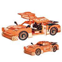ingrosso giocattolo del mestiere di legno diy-JG Model Cars Craft Legno Cool Sport Chariot Modelli DIY Puzzle Giocattoli Assembler Boy Gift Alta qualità 6yd N1