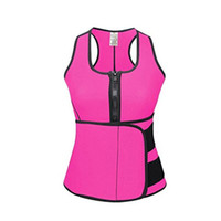 Wholesale hot corset bodies resale online - 2019 Hot Waist Cincher Sweat Vest Trainer Tummy Girdle Control Corset Body Shaper for Women Plus Size S M L XL XXL XL XL