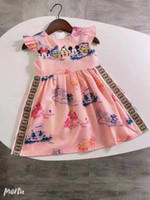 Wholesale cute outfits summer resale online - hot sale summer girls clothes fashion cute princess girls clothing outfit