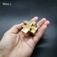 Wholesale chinese puzzle metal resale online - 9 Pillars Cross Structure D Puzzle Game Brain Teaser Toy Chinese Kong Ming Lock Collection Hobby Copper Metal Model