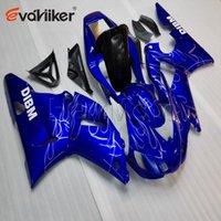 98 r1 carenado azul al por mayor-5Gifts + cubierta del tanque + + personalizado azul carenado plástico ABS para la YZF-R1 YZF R1 1998-99 98 99