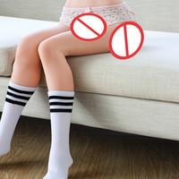 productos de muñecas sexuales para hombres al por mayor-Reales piernas completas de 80 cm de silicona de silicona muñeca piernas pies juguetes sexuales sexo de metal esqueleto con la vagina, vagina juguete del sexo para los productos Hombres