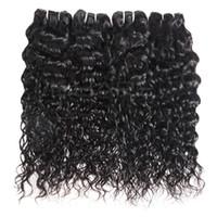 Wholesale yaki perm human hair online - YAHLIGS Bundles inch Brazilian Virgin Hair Human Hair Loose Wave Yaki Straight Deep Curly Body Wave Straight Color B Black J01