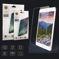 koruyucu ipad mini paketi toptan satış-ipad için Kağıt Perakende Paketi ile 2 3 4 5 6 7 8 Pro 11 Mini 4 MiNi5 Yeni 10.2inch temperli cam çizilmeye karşı 0.3mm Ekran Koruyucu Film