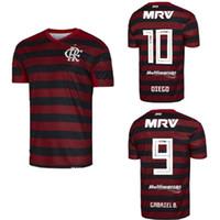 camisa de futebol vermelho venda por atacado-Novo clube do Brasil Flamengo home camisa branca de futebol vermelho 20 19 19 Camisa de futebol DIEGO Gabriel B. HENRIQUE ARRASCAETA camisas de futebol 2019